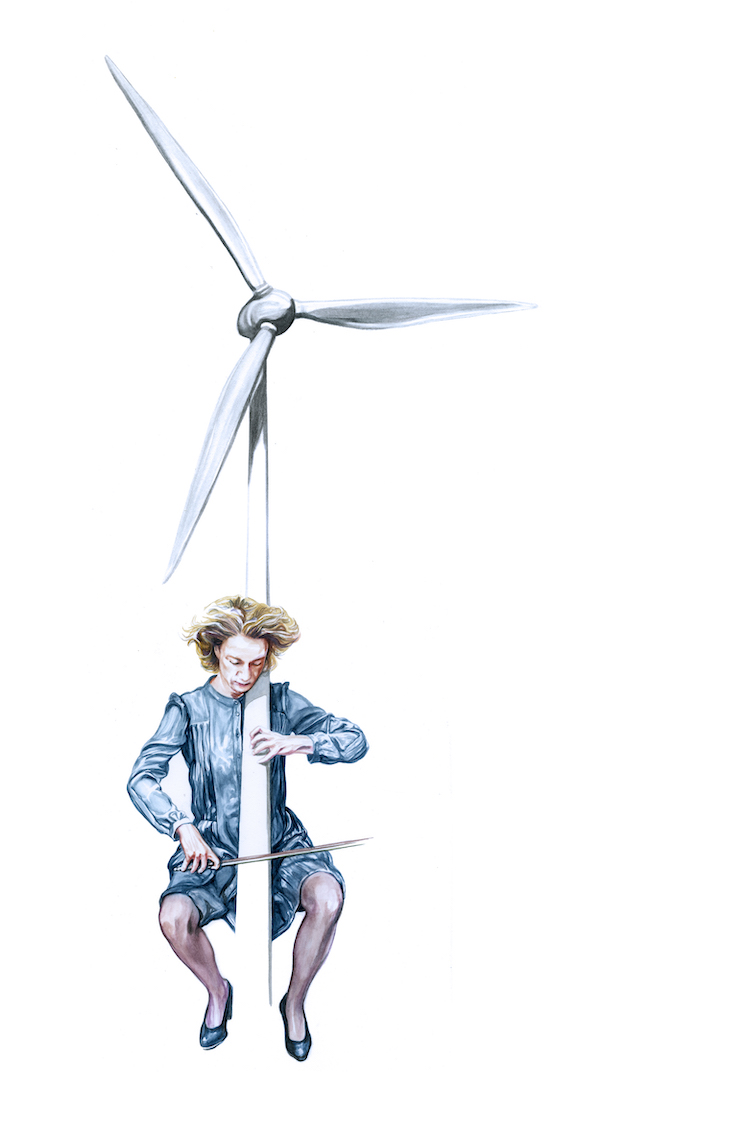 the turbine plays, frouke wiarda, illustration by stephan balleux